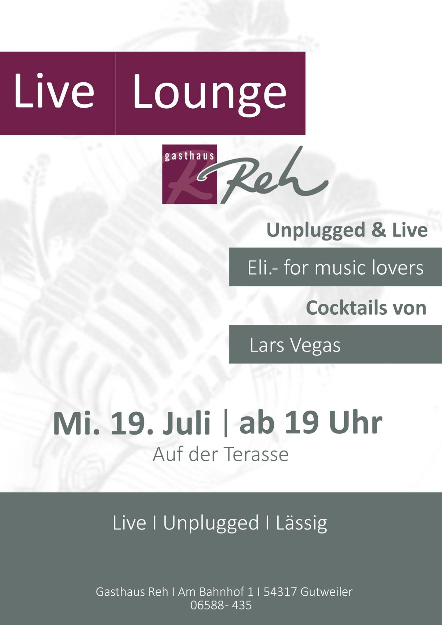 LIVE • UNPLUGGED • LÄSSIG